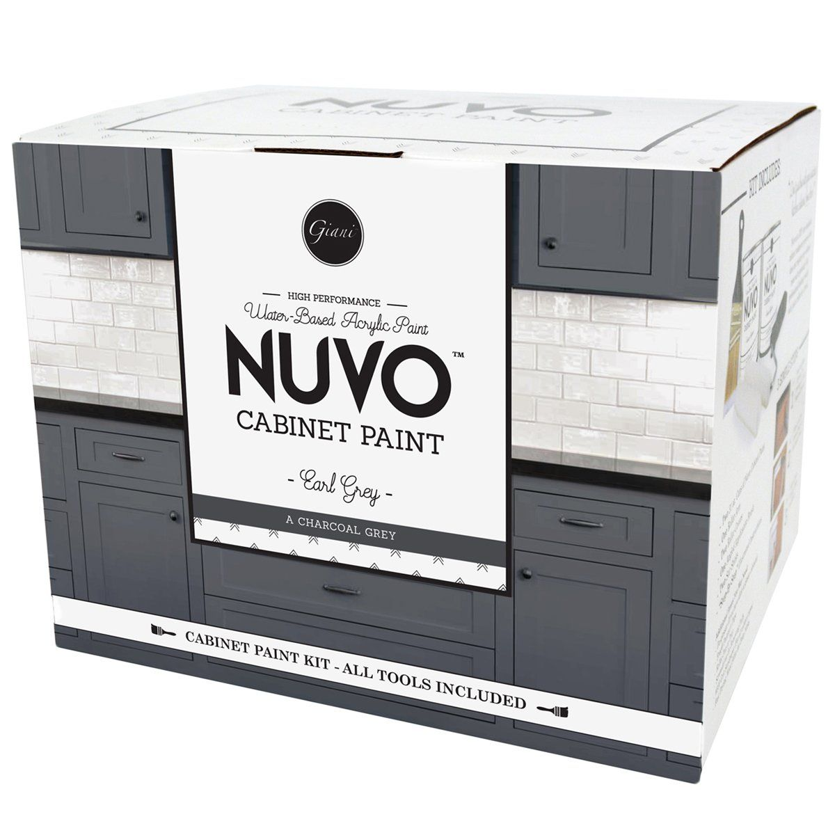 Best Nuvo Earl Grey Cabinet Paint Kit With Images Painting 400 x 300