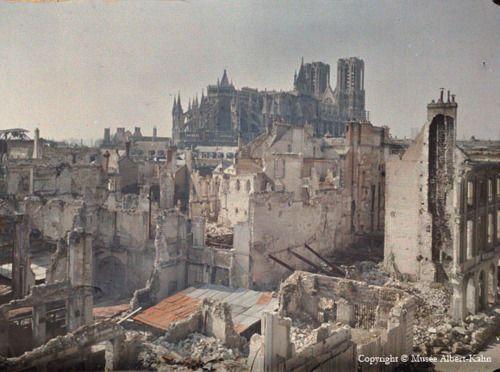 Reims Cathedral - Albert Kahn