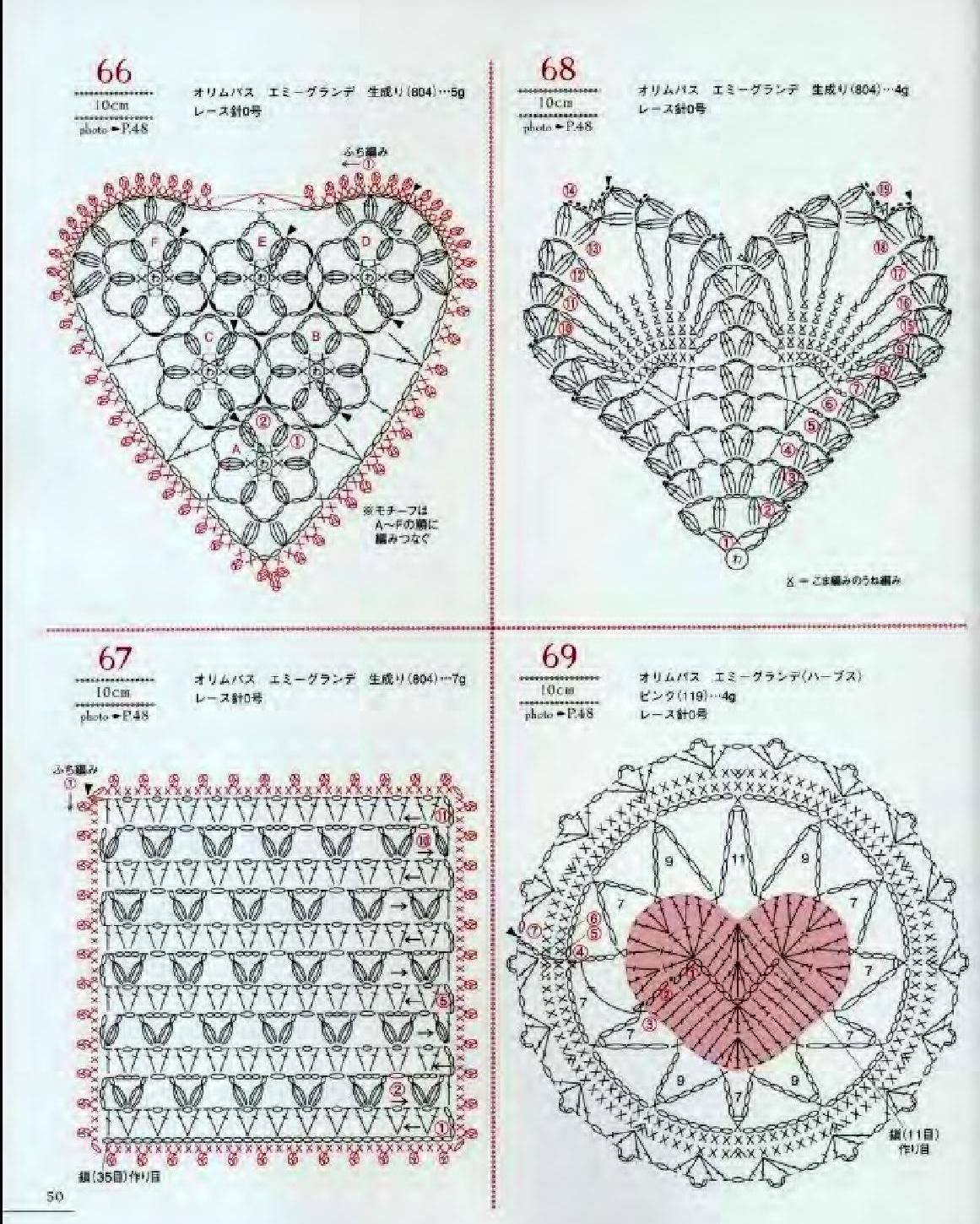 Asahi original crochet heart pattern heart patterns crochet and clippedonissuu from asahi original crochet heart pattern bankloansurffo Images