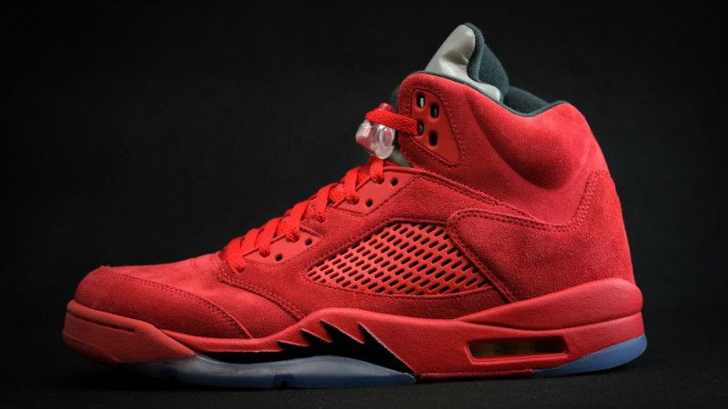 buy popular 88cc3 f1705 New images of the Air Jordan 5 Red Suede that will release in the Summer of  2017 for  190.