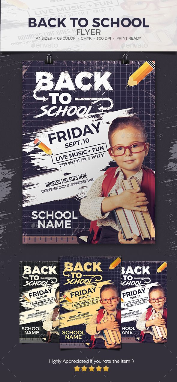Back To School Flyer Event flyers, School and Flyer template