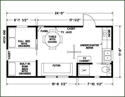 12x24 floor plan bedroom on ground floor