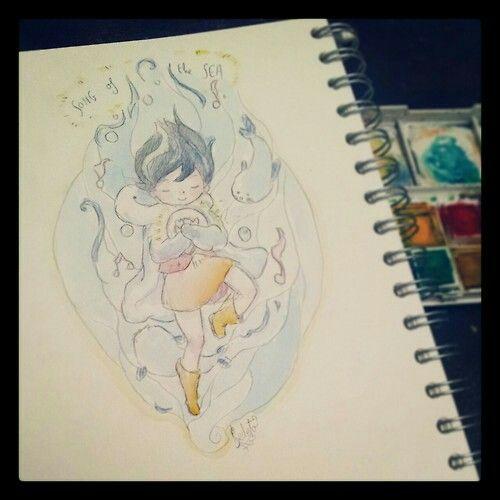 Dibujo Inspirado En La Cancion Del Mar Dibujo Del Mar Dibujos Pintura Acuarela