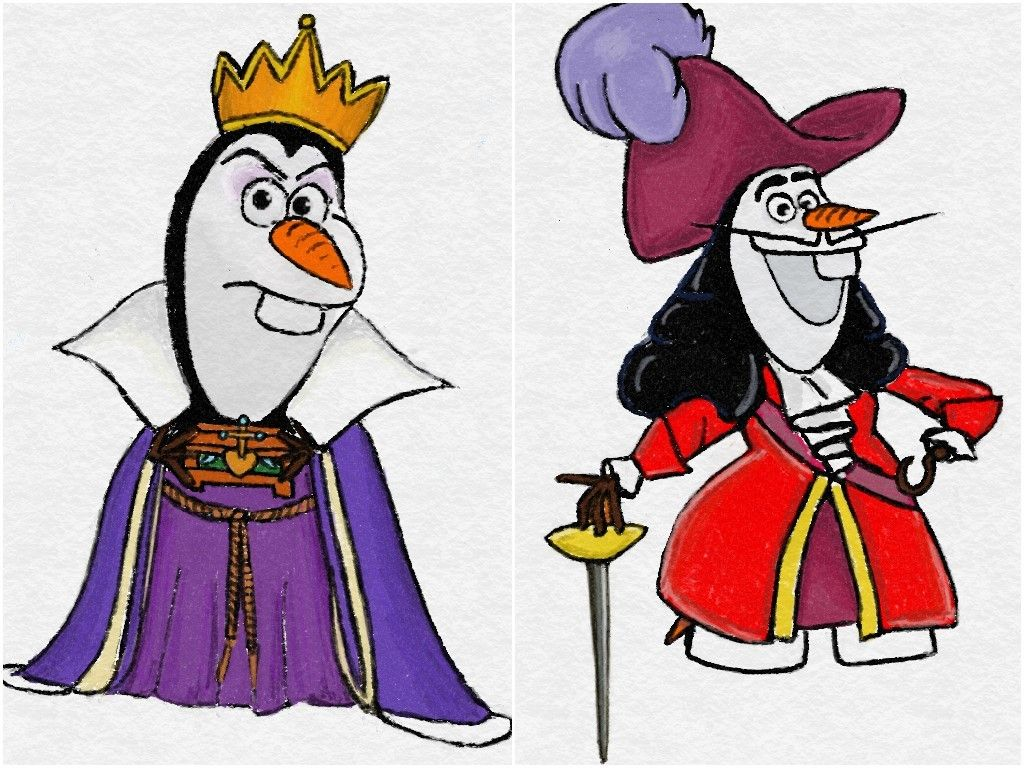 DailyOlaf — Olaf as Disney Villains!!!!!!!