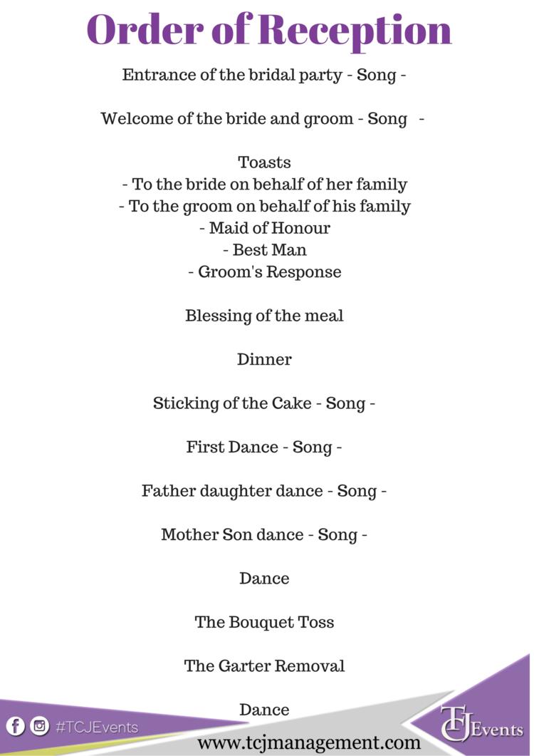 Google Image Result For Https I Pinimg Com Originals 08 07 39 080739ddcf8984b In 2020 Order Of Wedding Reception Wedding Reception Program Wedding Reception Schedule