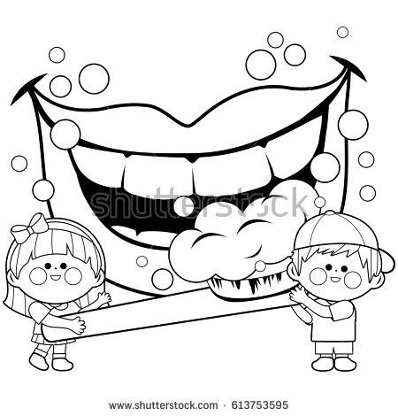 49++ Tooth brushing clipart black and white information