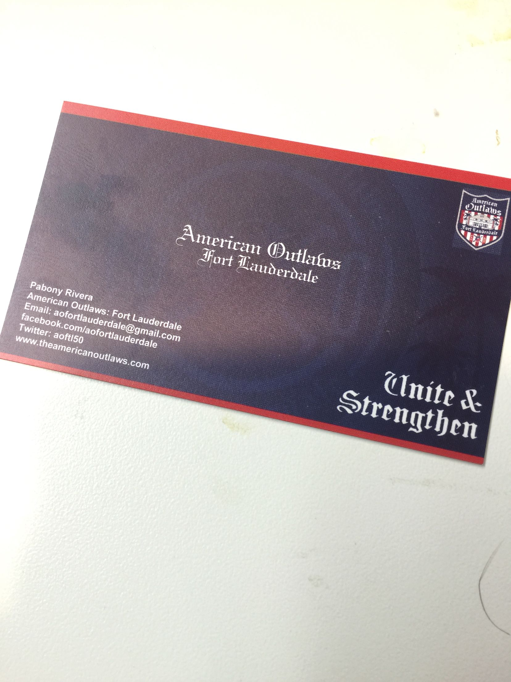 Business card | American Outlaws: Fort Lauderdale | Pinterest ...