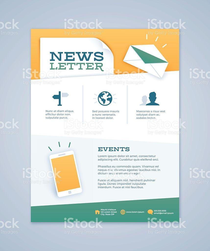 Newsletter Design royalty free stock vector art   Newsletter ...