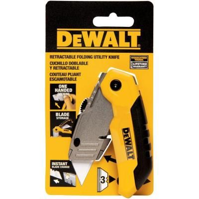 Dewalt Folding Retractable Utility Knife Dwht10035l