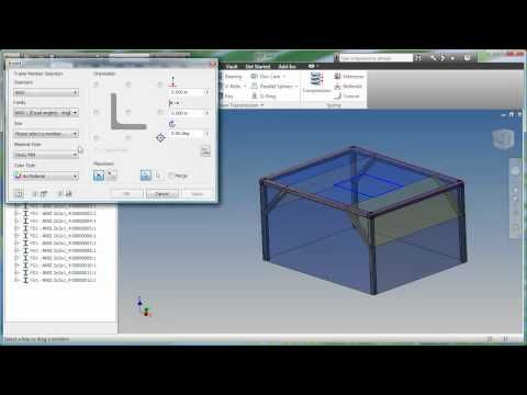 Autodesk Inventor Professional - Frame Generator Table - YouTube ...