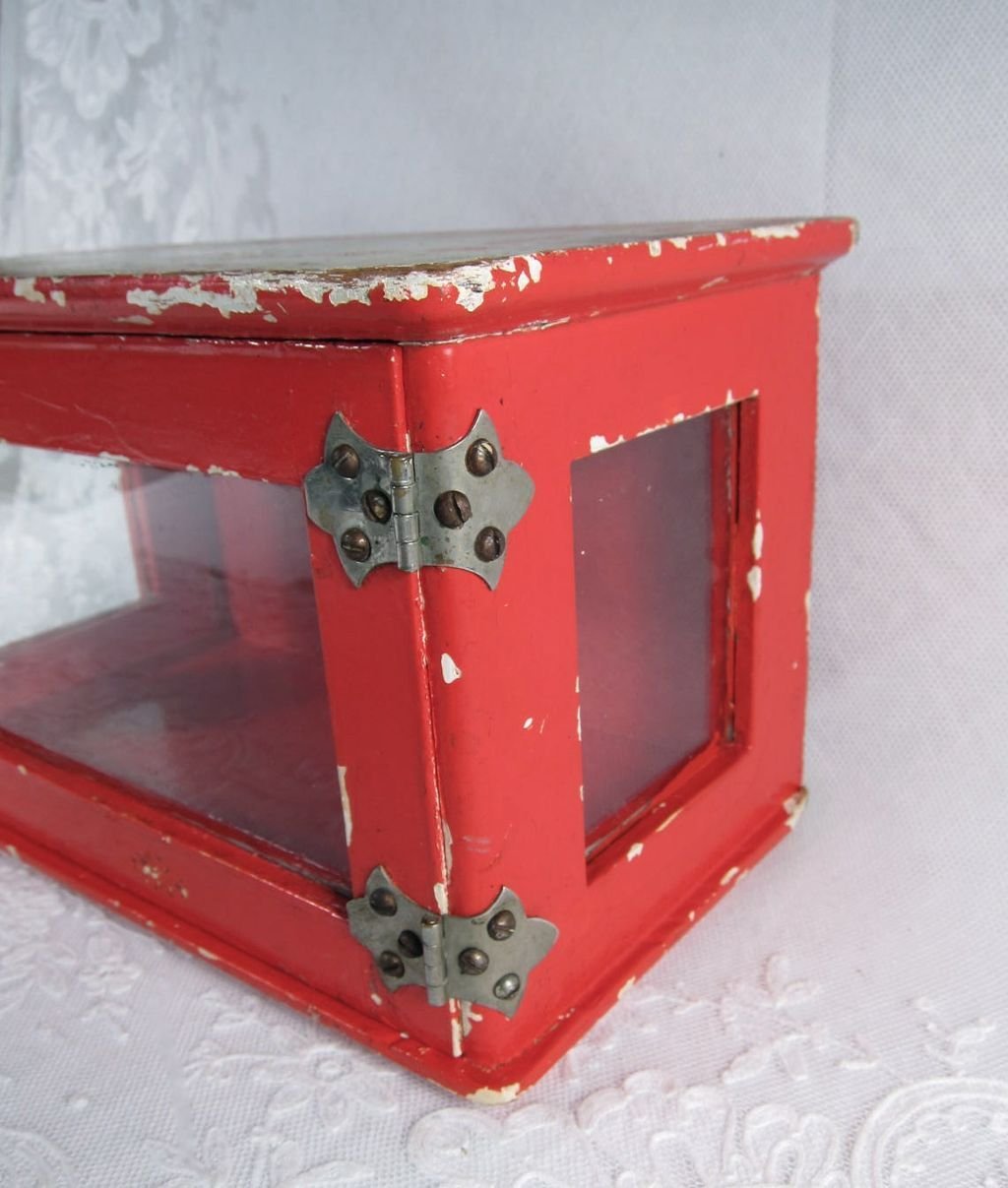 love this french antique display box, great color