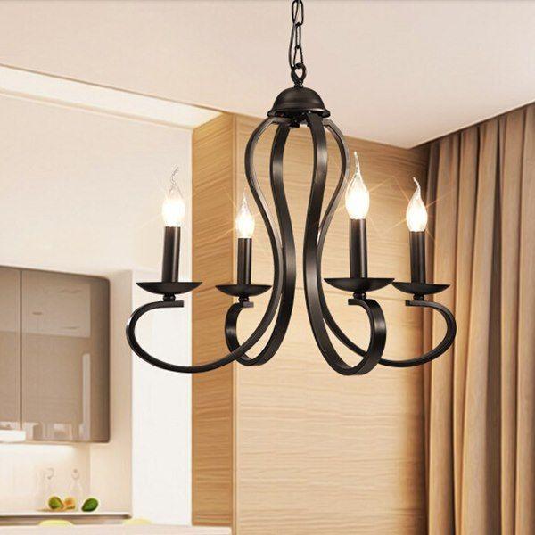 Mediterranean Style Lighting: Modern Black And White Mediterranean Style Ceiling Light
