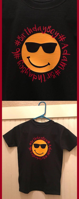 Emoji Birthday Boy Shirt Party Affiliate
