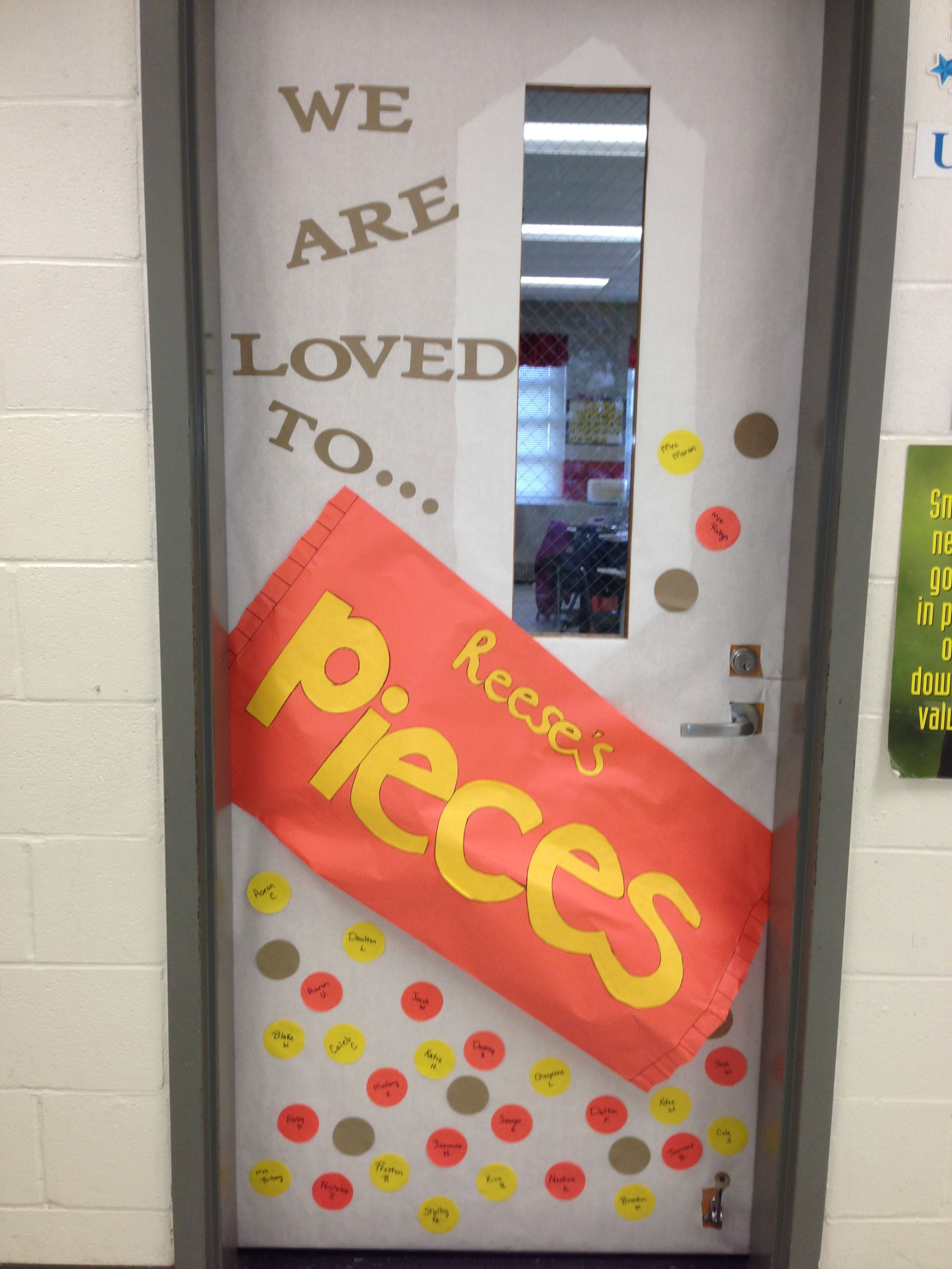 Reeses Pieces Classroom Door Decoration For Valentines Day