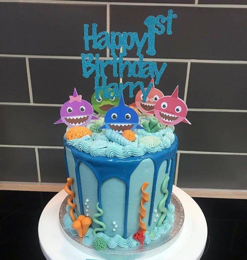 Baby shark cake toppers custom cake topper birthday cake