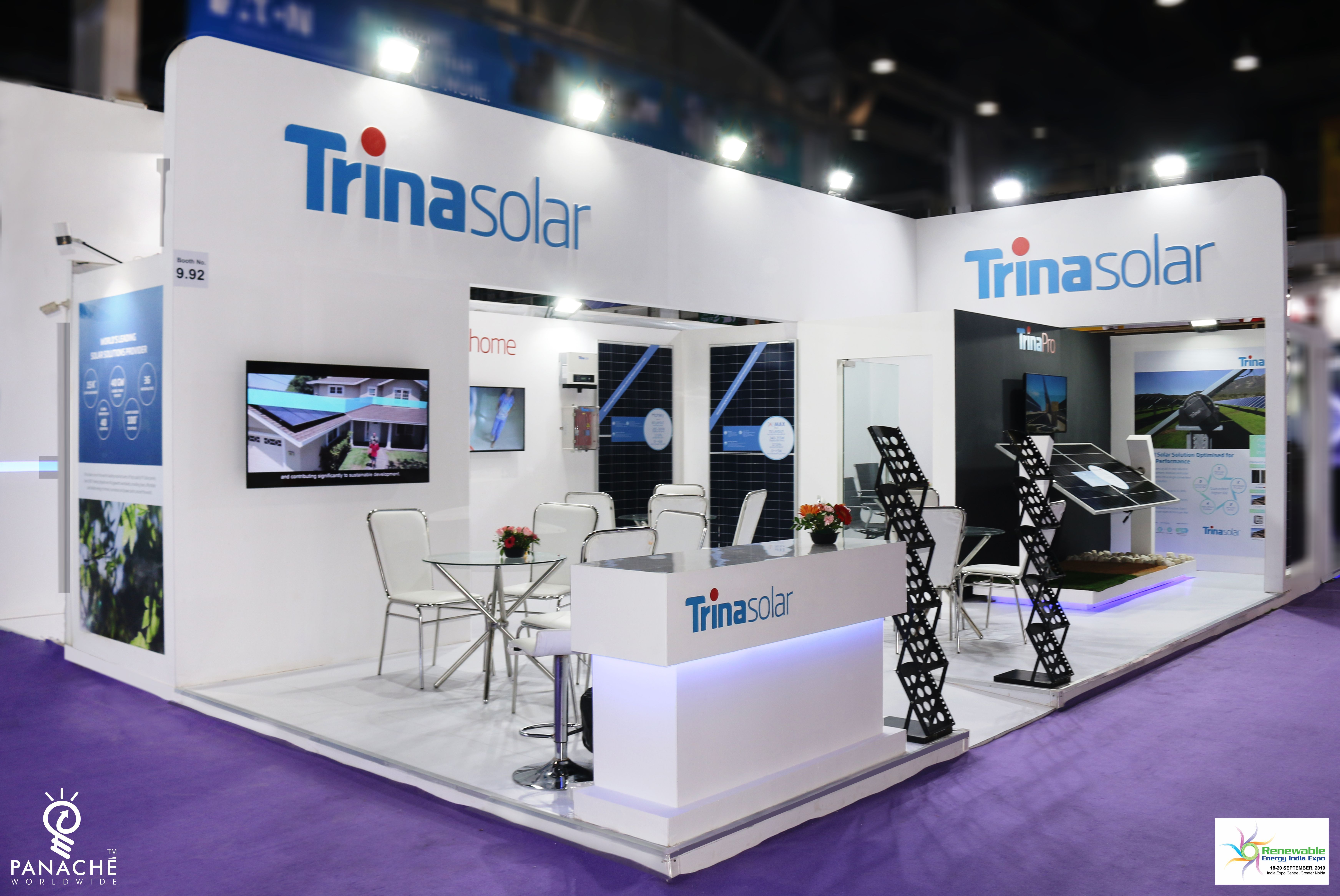 Exhibition Booth Trina Solar Booth Design Exhibition Booth Exhibition Building