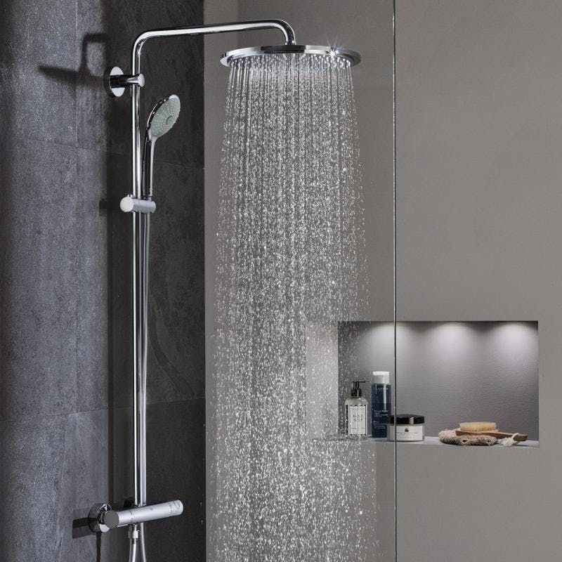 Grohe 310 XXL Shower System with 472mm Swivel Shower Arm (26075000