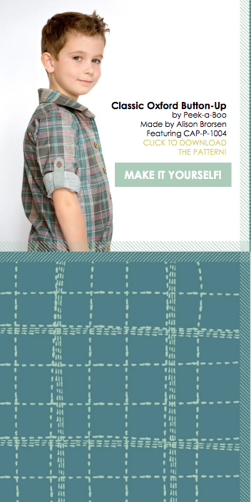 Capsules Lookbook by Art Gallery Fabrics. Shirt made by Because of Brenna; Pattern by Peek-a-Boo Patterns #artgalleryfabrics #becauseofbrenna