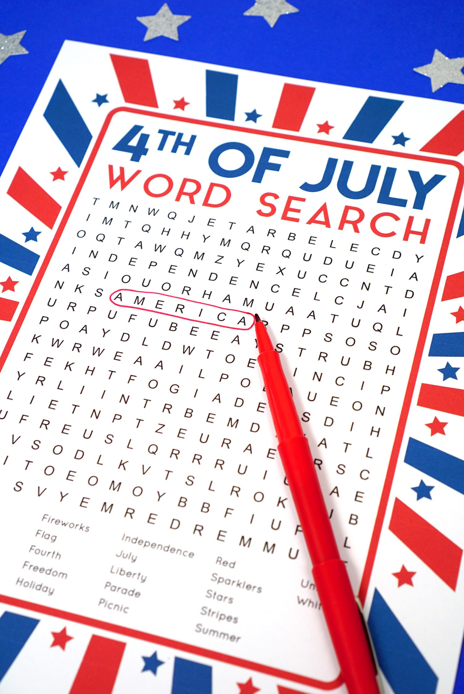 This Fun Printable 4th Of July Word Search Puzzle Is A Ton