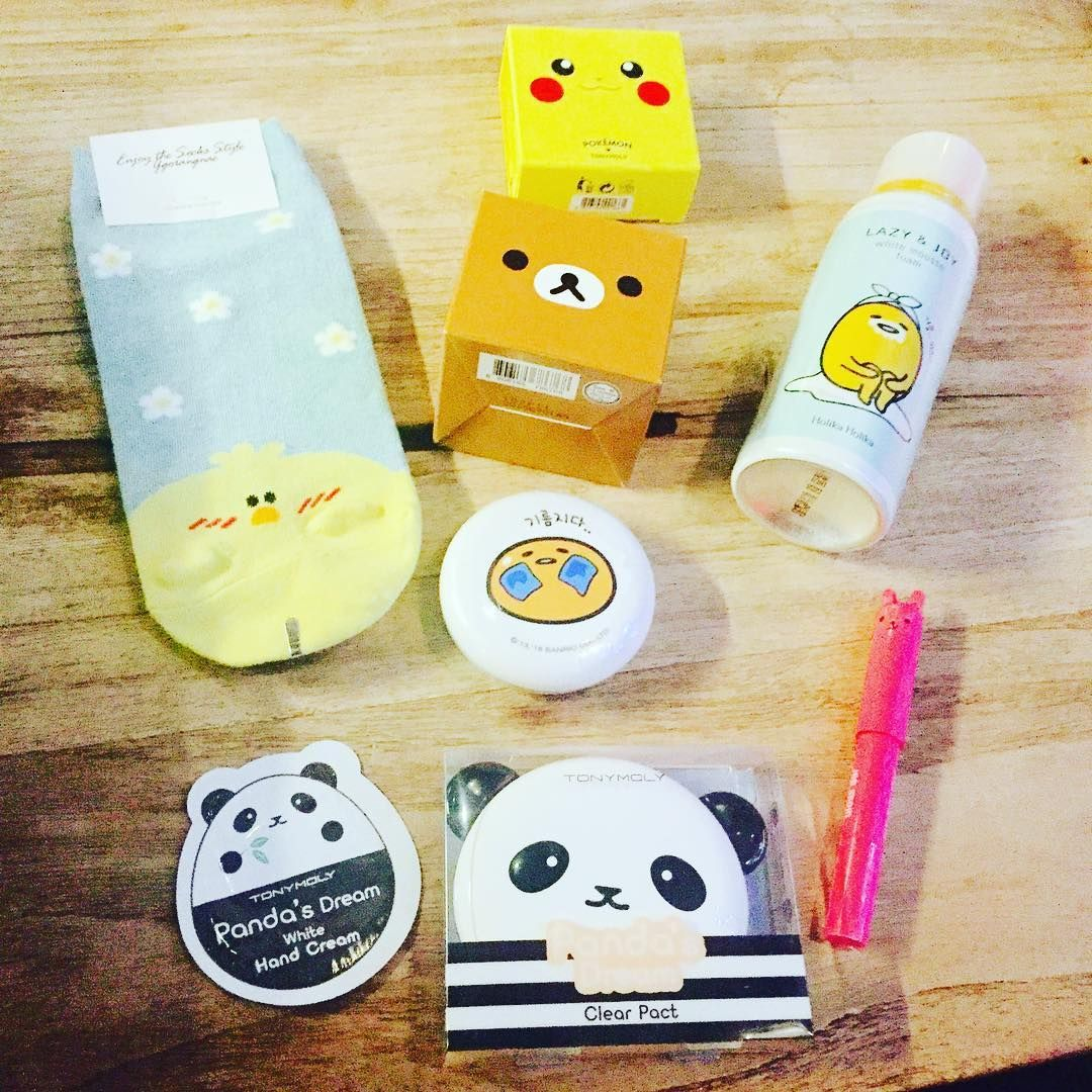Anything With A Face Korean Skincare Products Cute Kbeauty Cosmetics Packaging Rilakkuma Recommended Korean Skincare Homemade Skin Care Skin Care Acne