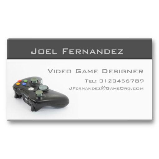 Video Game Designer Business Card Zazzle Com Video Game Design Business Card Design Business Cards