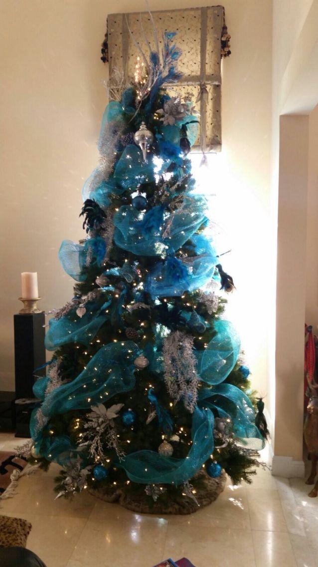 Cosasqueenamoran un rbol de navidad azul feliznavidad for Arbol navidad turquesa