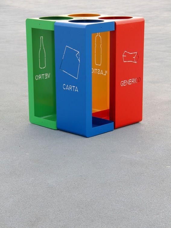 چگونه با دیزاین مواد بازیافتی برمی گردند Trash Bins Recycling Bins Trash Can