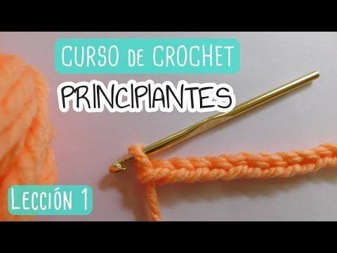 Como Aprender A Tejer Crochet Para Principiantes Clase 2 Punto Bajo Single Crochet Curso Basico De Crochet