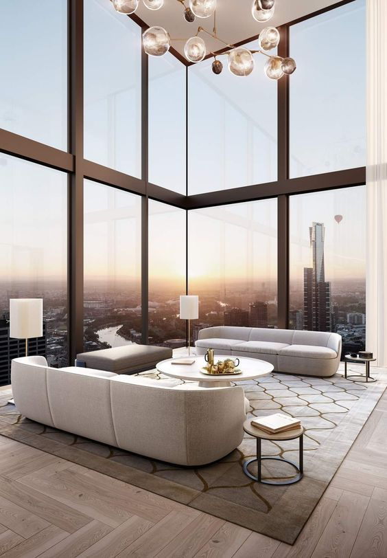 Luxury living room design ideas with neutral color palette luxury penthouse contemporary furniture and penthouses