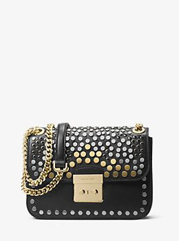 9a7ff08ea6787 Sloan Editor Medium Studded Leather Shoulder Bag by Michael Kors ...