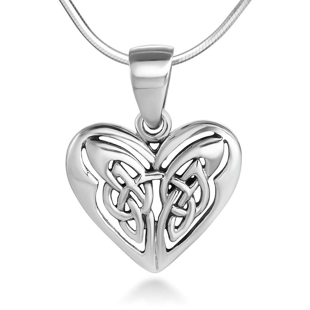 Sterling silver 13 mm open heart celtic knot wings endless love sterling silver 13 mm open heart celtic knot wings endless love symbol pendant buycottarizona Gallery