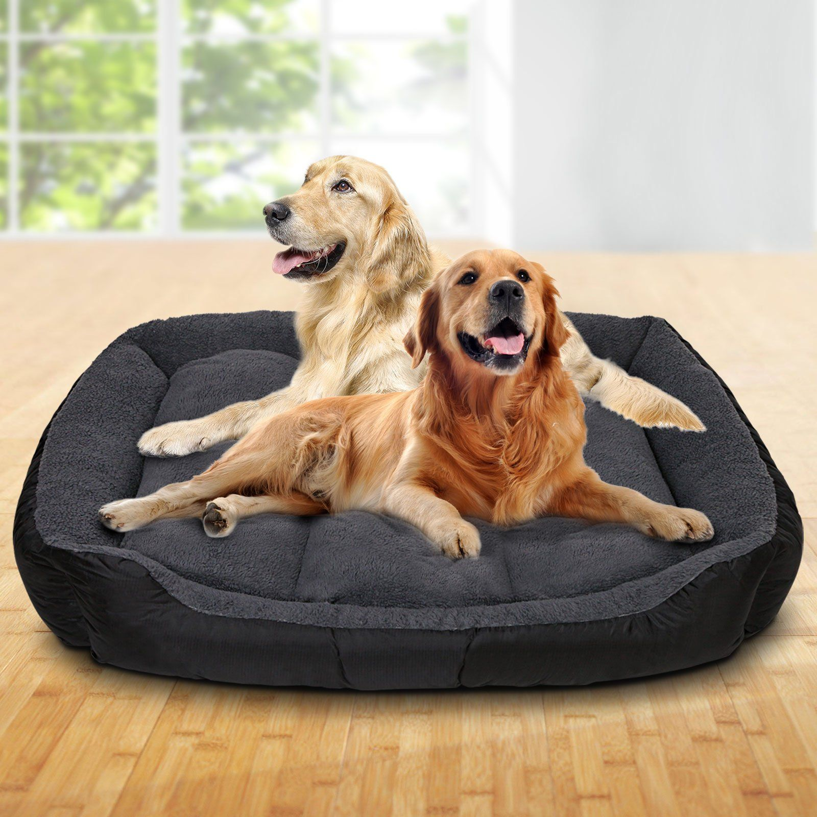 Extra Extra Large Fleece Washable Pet Bed Grey in 2020