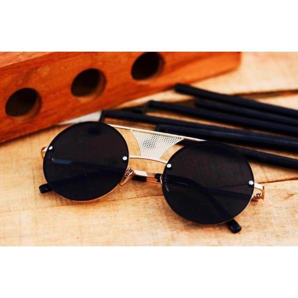 cb0d3fb90a Sukhash Enterprice Black Metal Round Sunglasses