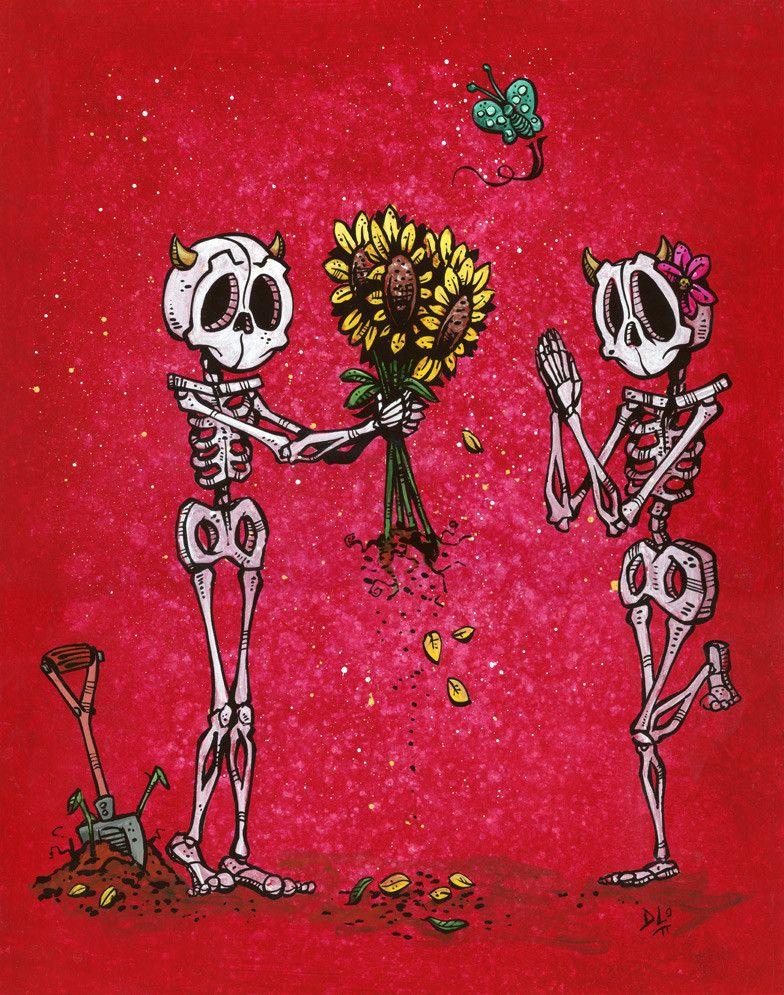 Presente do presente do esqueleto por David Lozeau