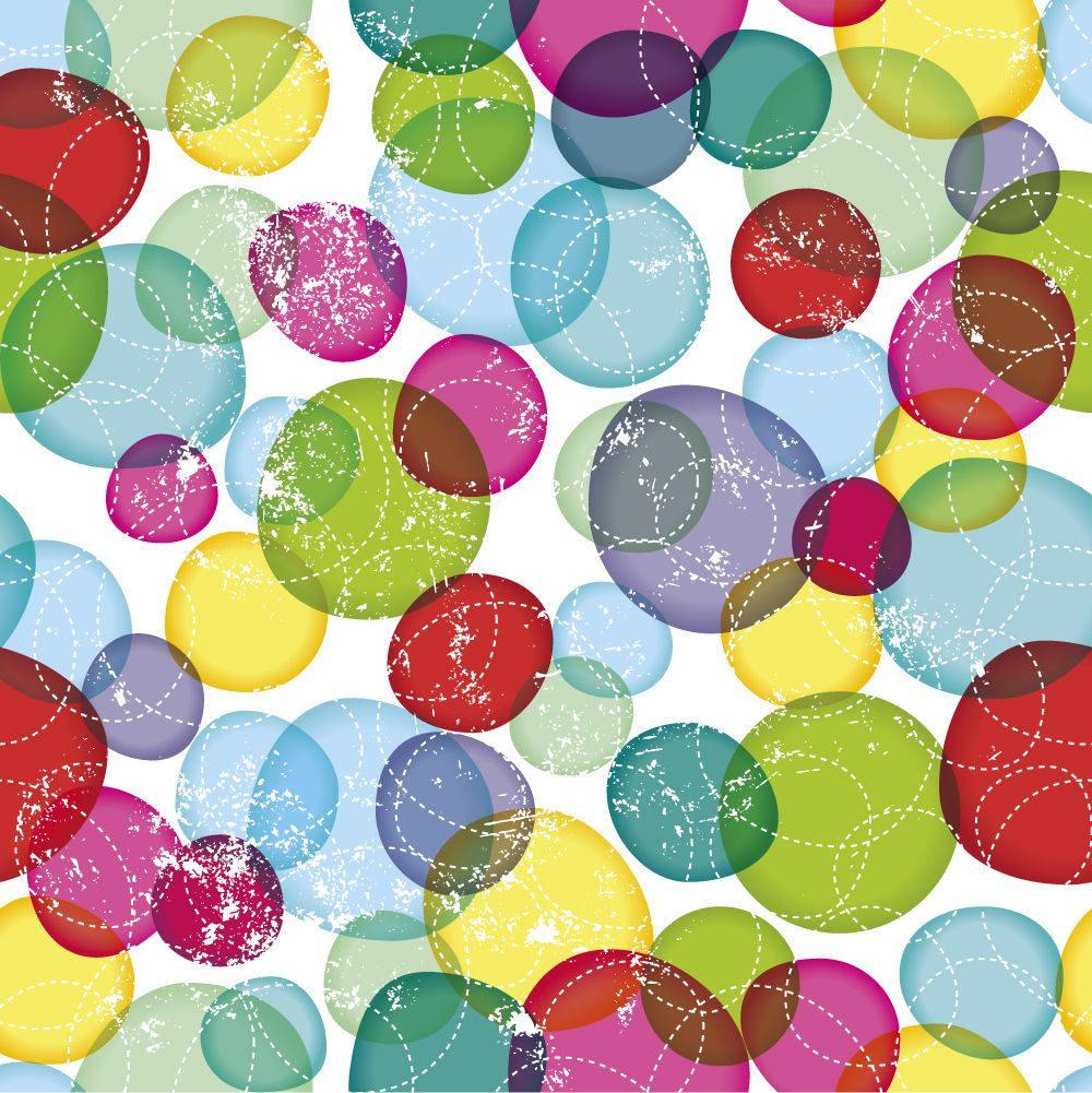 ohpopsicom seamless round bubbles kids pattern in