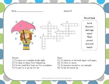 Crossword Puzzle Super Storms Journeys Aligned 1 2 Buckle My