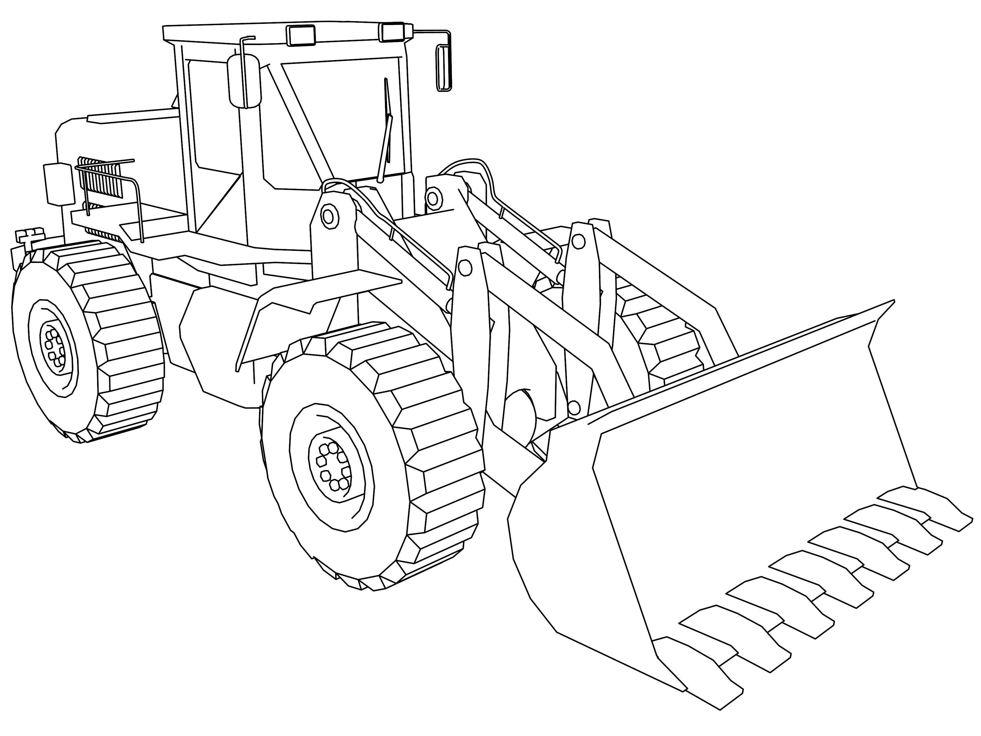 Bulldozer Coloring Pages Truck coloring pages