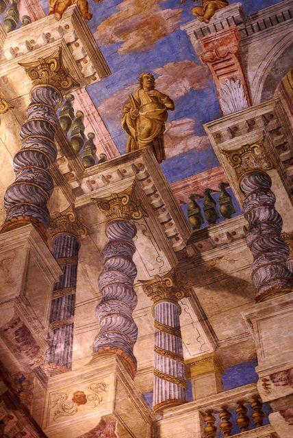 Venedig, Campo Sant'Alvise, Chiesa di Sant'Alvise, Deckenfresko mit einer Scheinarchitektur (ceiling fresco of a trompe l'oeil architecture)...