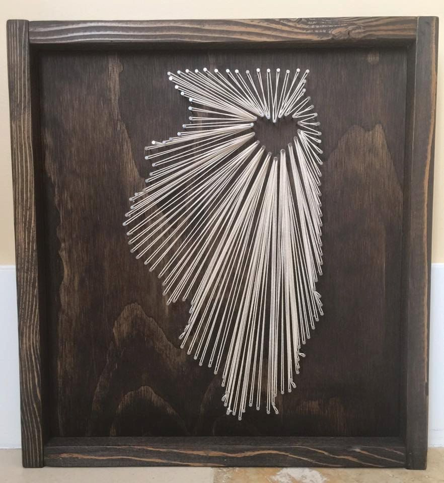 String Art, State String Art, Illinois State String Art, Illinois ...