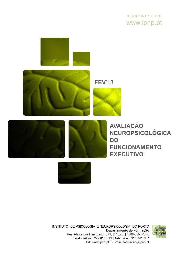 AVALIAÇÃO NEUROPSICOLÓGICA DO FUNCIONAMENTO EXECUTIVO