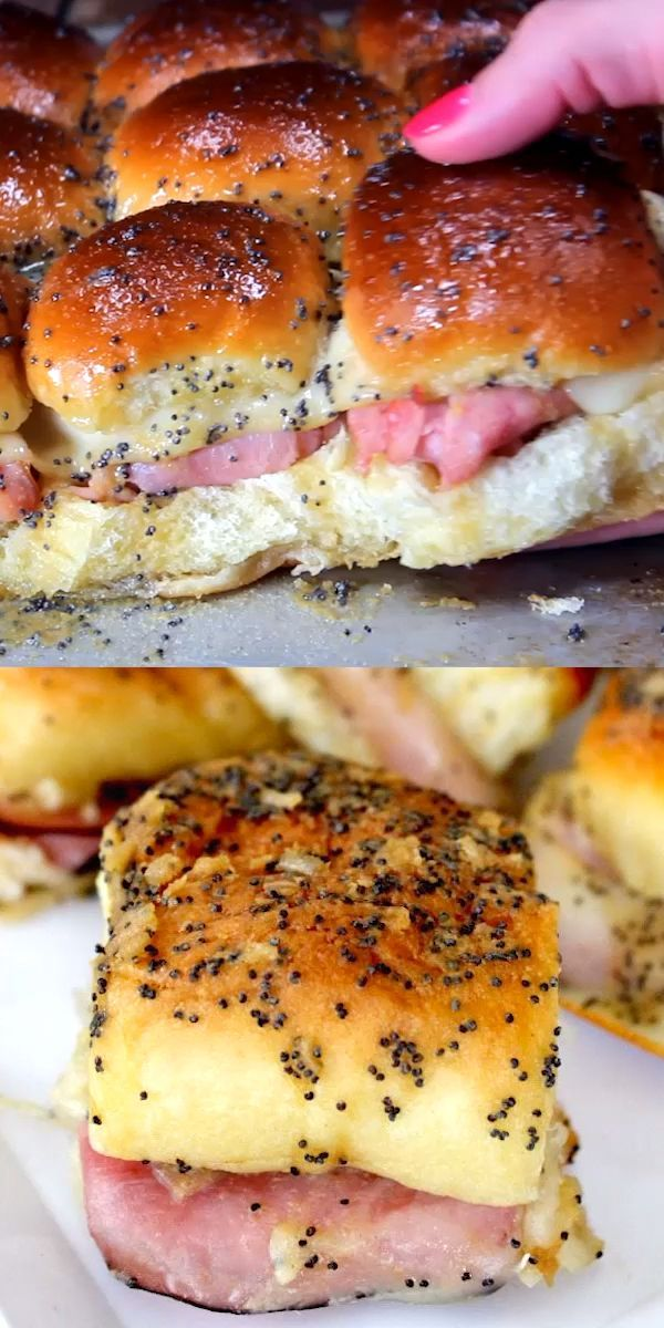 Hawiian Ham and Cheese Sliders Recipe - Easy Ham and Cheese Sliders