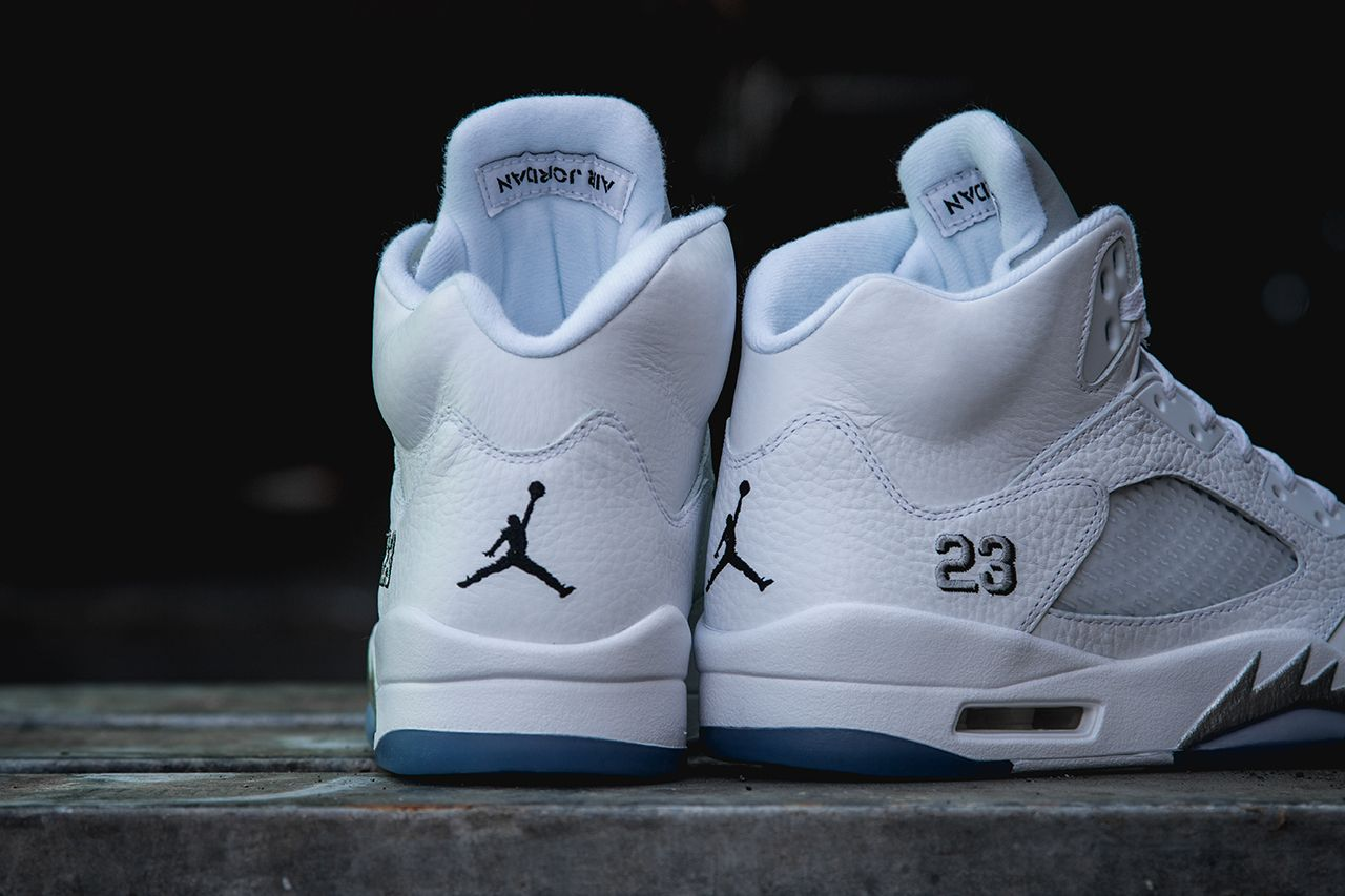47d1c30522ee7 Air Jordan 5 Retro White / Metallic Silver – New Images | Air 23 ...