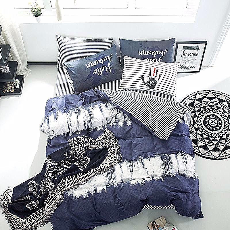 Photo of Ensemble De Draps Simples –  4pcs/Set New Simple Cotton Bedding Set Comforter Be…