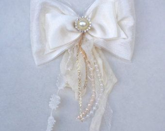 Silk bow handmade baby bow baby bows by DelicateAndSpecial on Etsy