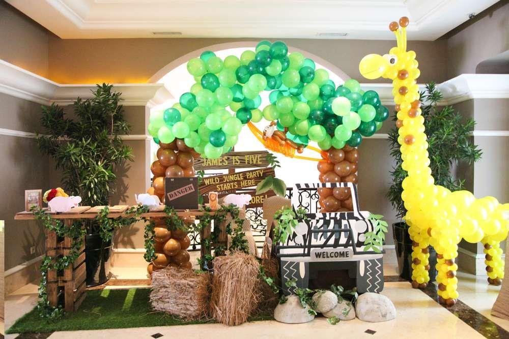 Animal Jungle Birthday Party Ideas Photo 32 Of 36 Jungle Party