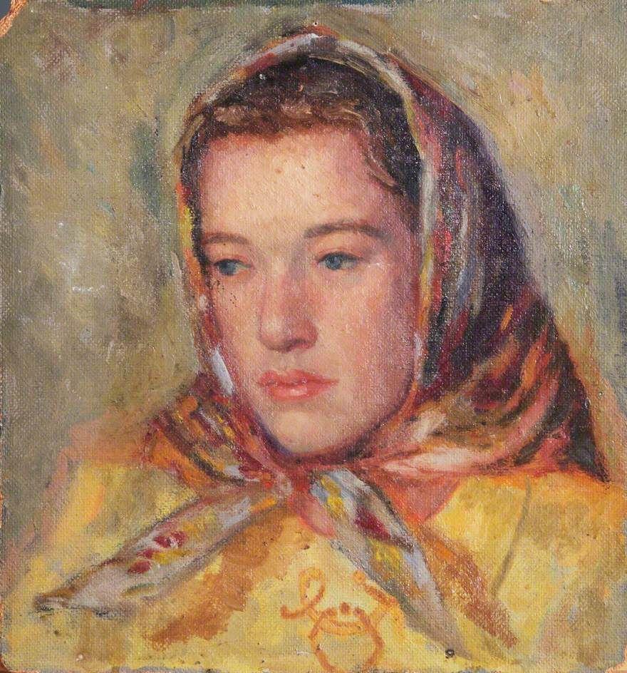 david charles feilding(1913–66), portrait of an unknown female civilian. oil on hardboard, 30 x 20 cm (estimated). royal air force museum, uk http://www.bbc.co.uk/arts/yourpaintings/paintings/portrait-of-an-unknown-female-civilian-135836