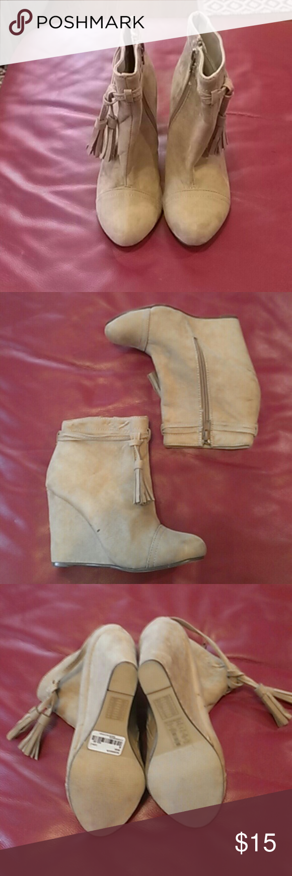 Ankle Boots Forever21(girls) Ankle Boots Forever21(girls), color beige, Forever 21 Shoes Boots
