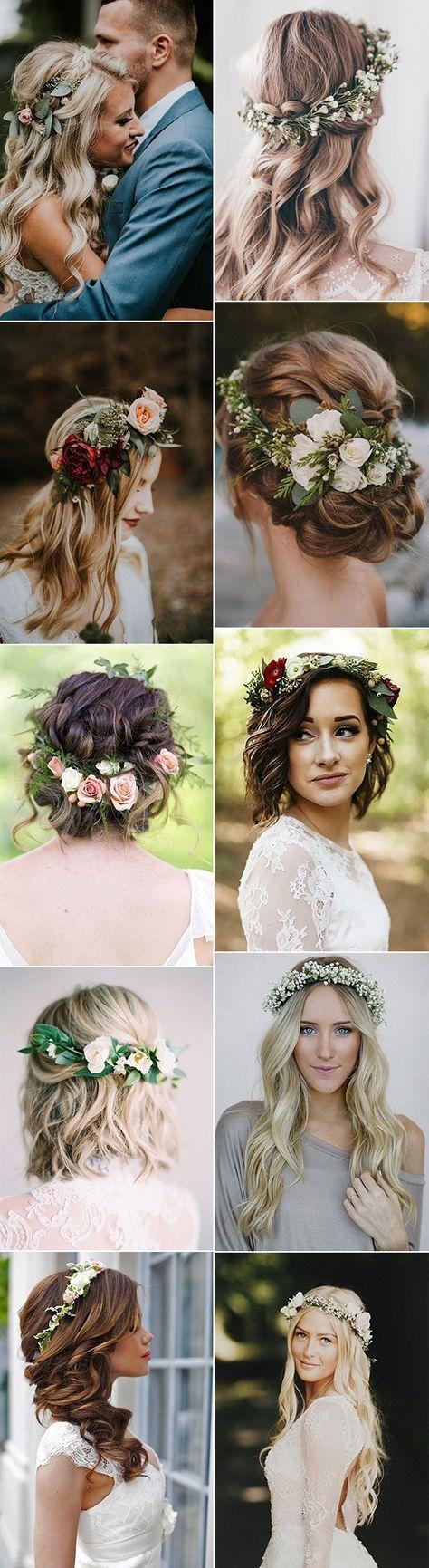 Während wir lieben einen traditionellen Schleier, es ist sicher zu sagen, wir sind Saugnäpfe für ein bridal-Blumen-Krone. Sie sind nicht nur absolut atemberaubend, aber Sie sind perfekt für DIY-Bräute. Nicht zu erwähnen, nehmen Sie das Rätselraten bei der Zugabe von Zubehör, damit Ihr Kleid, Blumen-Kronen haben die Fähigkeit, allein zu stehen. Wie es scheint, Bräute … #shortbridalhairstyles