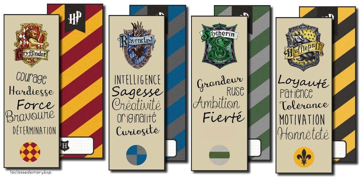 Harry Potter Marque Pages Classe Harry Potter Harry Potter