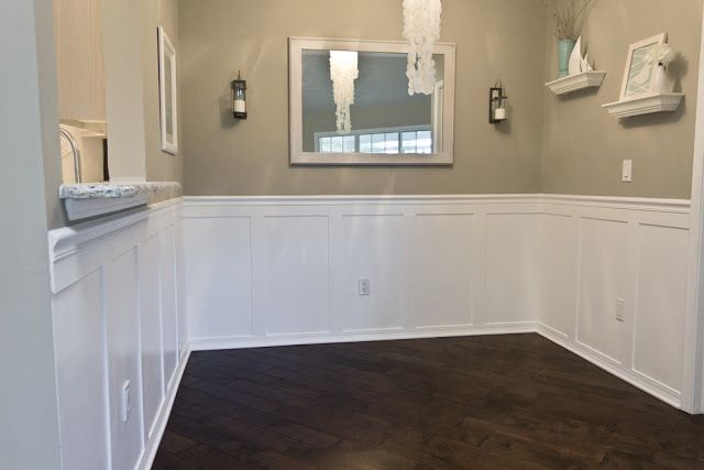 Jenna Sue Dining Room Wainscoting Done She Has TONS Of DIY Upgrades To Her Home